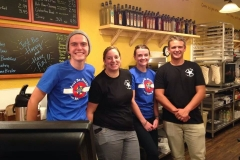 A few team members and Kathy from Clear Lake working in Breckenridge: Jeremy, Anastasia, and Ben