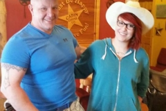 Jessalyn our Mason City store manager and her dad.