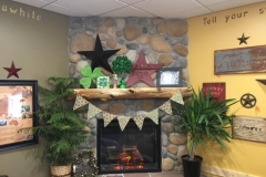 Chatfield Cabin Coffee all ready for St. Patrick's Day!