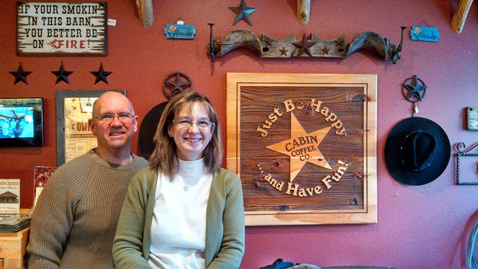 Wayne and Judy Jolley, owners of Cabin Coffee Blairsville!