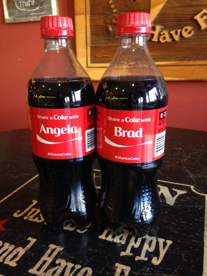 Two cokes for our two wonderful bosses!
