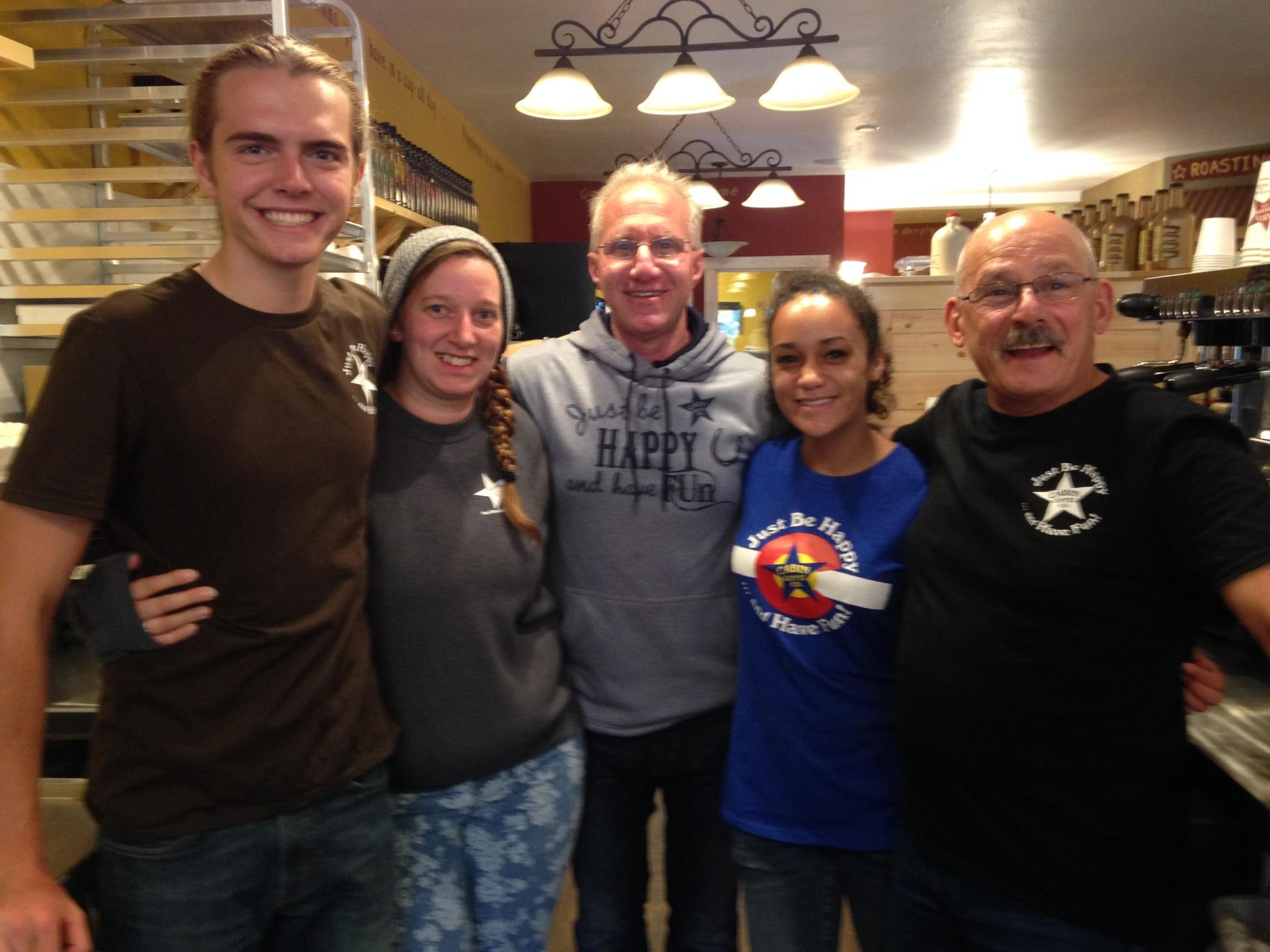 Breckenridge Staff with Kathy and Brad from Clear Lake: Jeremy, Malia, and Bob