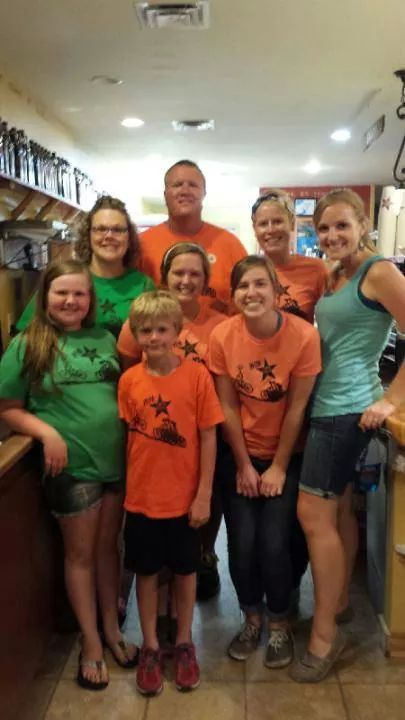 The Forest City team during Ragbrai!