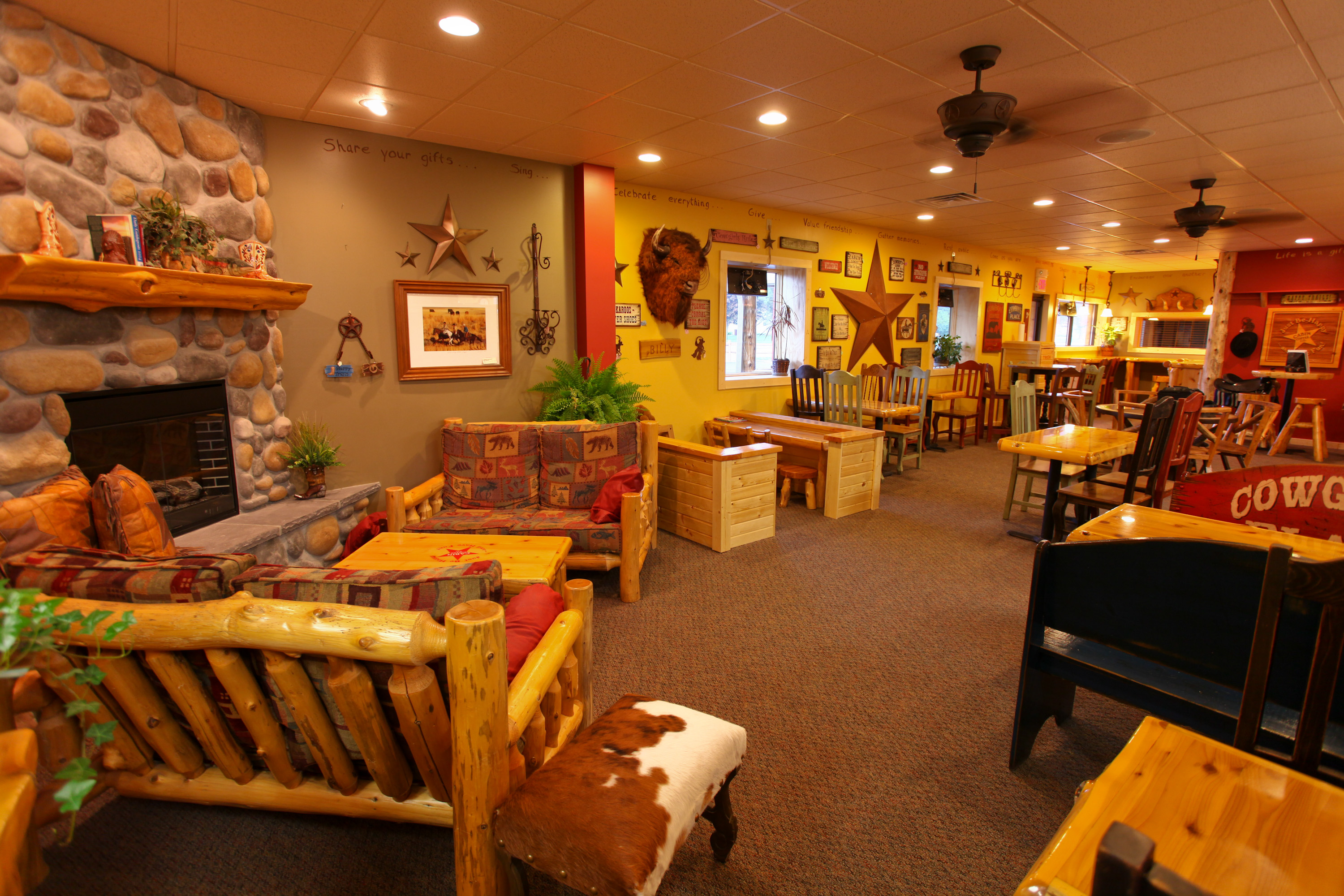 Do you see Billy our bison hanging out on the wall?