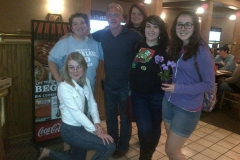 Some of our Mason staff out for pizza with Brad and Angie.